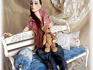 Скамеечка для кукол   Ярмарка Мастеров - ручная работа, handmade