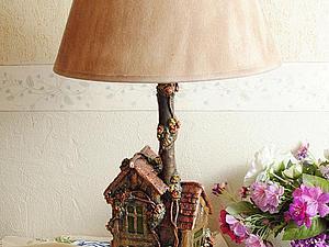 Лампа-дом из того что под рукой | Ярмарка Мастеров - ручная работа, handmade