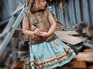 МК Светланы Вронской по валянию детского жилета с капюшоном в Одессе | Ярмарка Мастеров - ручная работа, handmade