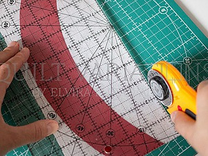 Шьем декоративную подушку в технике пэчворк. Используем линейку Simple Curve. Часть 1. Ярмарка Мастеров - ручная работа, handmade.