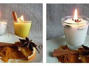 Ароматизированная свеча из соевого воска. Ярмарка Мастеров - ручная работа, handmade.