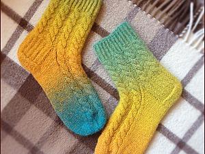 Мастер-класс: «Вязаные и подваляные носочки». Ярмарка Мастеров - ручная работа, handmade.