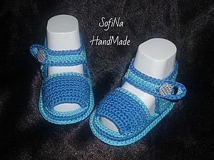 Вяжем мягкие сандалики для самых маленьких. Ярмарка Мастеров - ручная работа, handmade.