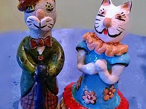 Чарли и Афродита. Кот и кошка. | Ярмарка Мастеров - ручная работа, handmade
