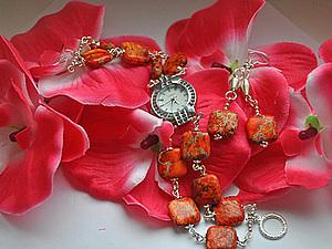 Купите часы+сережки и помогите деткам   Ярмарка Мастеров - ручная работа, handmade