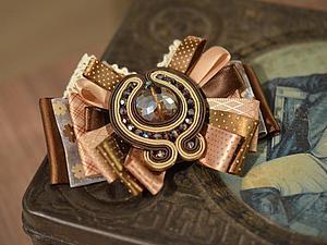 Мастер-класс: создаем элегантную брошь из лент «Шоколад». Ярмарка Мастеров - ручная работа, handmade.