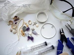 Урок по работе с эпоксидной смолой. Делаем летний кулон | Ярмарка Мастеров - ручная работа, handmade