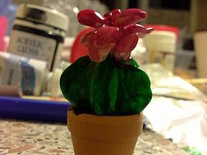 Создаем  цветущий кактус из полимерной глины. Ярмарка Мастеров - ручная работа, handmade.