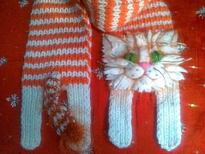 Котик-шарфик для тепла. Ярмарка Мастеров - ручная работа, handmade.