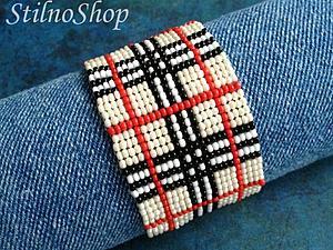 Плетем стильный браслет из бисера. Ярмарка Мастеров - ручная работа, handmade.