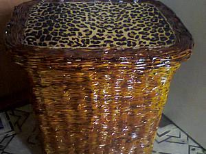 Реставрация старой корзины  для белья | Ярмарка Мастеров - ручная работа, handmade