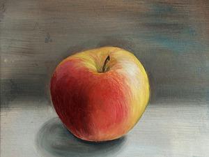 Видео мастер-класс: как нарисовать яблоко маслом. Ярмарка Мастеров - ручная работа, handmade.