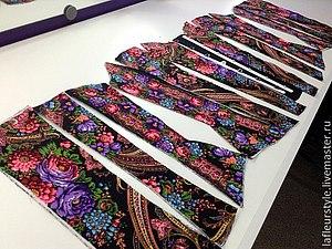 Как кроить из павловопосадских платков | Ярмарка Мастеров - ручная работа, handmade