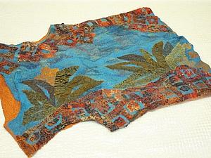 Делаем валяный жилет с аппликацией из шелка «Лоскутная мозаика». Ярмарка Мастеров - ручная работа, handmade.