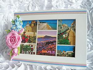 Фоторамка с цветами из Deco Clay   Ярмарка Мастеров - ручная работа, handmade