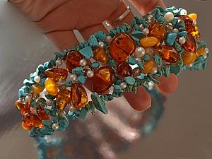 Мой первый ободок из натуральных камней... | Ярмарка Мастеров - ручная работа, handmade