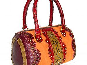 Курс по изготовлению сумок из кожи: Сумка с Овальными Бочками, закрывающаяся на молнию | Ярмарка Мастеров - ручная работа, handmade