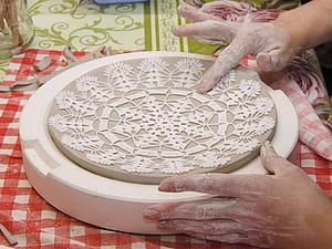Как мы лепили кружевные тарелочки | Ярмарка Мастеров - ручная работа, handmade