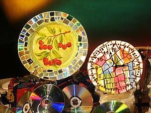 Видео мастер-класс. Мозаика из старых компакт-дисков. Ярмарка Мастеров - ручная работа, handmade.