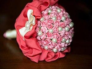 Свадебные аксессуары из бумажных розочек и жемчуга | Ярмарка Мастеров - ручная работа, handmade