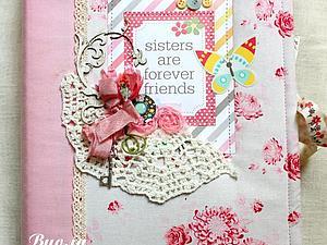Фотоальбом для двух сестричек | Ярмарка Мастеров - ручная работа, handmade