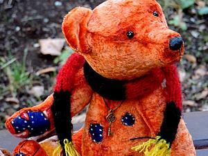 Аукцион медведик Янтарик | Ярмарка Мастеров - ручная работа, handmade