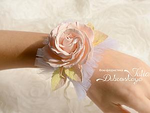Мастер-класс: цветочный корсаж с цветами из фоамирана в стиле шебби шик. Ярмарка Мастеров - ручная работа, handmade.