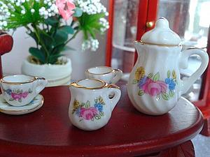 Новые миниатюрные кукольные чайные сервизы | Ярмарка Мастеров - ручная работа, handmade