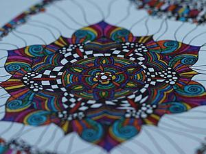 Медитативная графика. Зентангл | Ярмарка Мастеров - ручная работа, handmade
