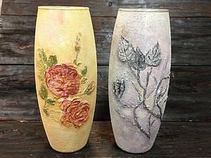 Роспись вазы в технике объемной живописи - новое слово в декоре!   Ярмарка Мастеров - ручная работа, handmade
