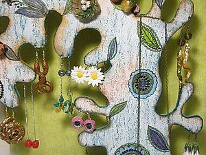 Техника винтажного состаривания, декупаж. Дерево-подставка для украшений. | Ярмарка Мастеров - ручная работа, handmade