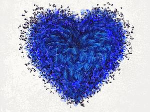 Цветотерапия, синяя | Ярмарка Мастеров - ручная работа, handmade