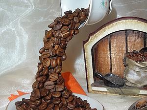 Топиарий кофейный. Человек невидимка решил кофейку испить. | Ярмарка Мастеров - ручная работа, handmade
