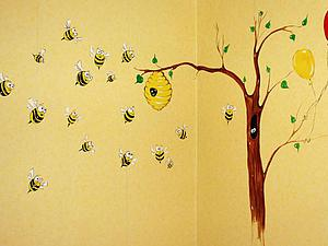 Расписываем стены в детской комнате. Ярмарка Мастеров - ручная работа, handmade.
