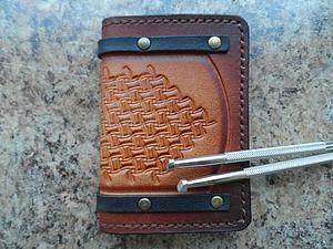 Изготавливаем визитницу из натуральной кожи. Ярмарка Мастеров - ручная работа, handmade.