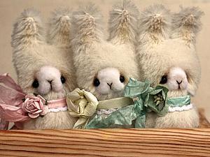 Братцы-кролики. Авторская игрушка в стиле Примитив своими руками. Ярмарка Мастеров - ручная работа, handmade.
