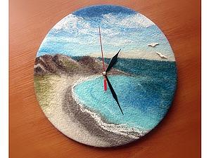Создаем войлочные часы. Ярмарка Мастеров - ручная работа, handmade.