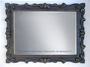 Зеркало багет полиуретановый имитация резьбы краски для стен finncolor