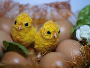 Делаем пасхальных цыплят из полимерной глины, фольги и шерсти   Ярмарка Мастеров - ручная работа, handmade
