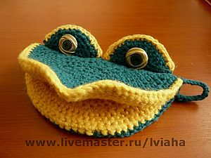 Прихватка - лягушка | Ярмарка Мастеров - ручная работа, handmade
