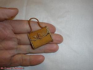 Кукольная миниатюра. Делаем кожаную сумочку. Ярмарка Мастеров - ручная работа, handmade.
