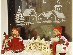 Декорируем окно к  Новому году | Ярмарка Мастеров - ручная работа, handmade
