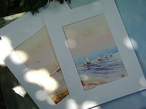 Акварельно-морское предложение плюс бонус | Ярмарка Мастеров - ручная работа, handmade