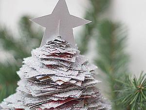 Новогодняя елочка из газет. Ярмарка Мастеров - ручная работа, handmade.