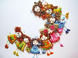 Сувенирные куклы - брошки, работа на заказ. | Ярмарка Мастеров - ручная работа, handmade