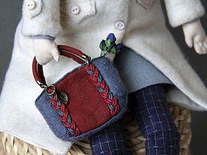 Шьем для куклы модную сумочку с косами. Ярмарка Мастеров - ручная работа, handmade.