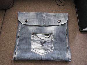 Шьем из старых джинсов сумку в машину. Ярмарка Мастеров - ручная работа, handmade.