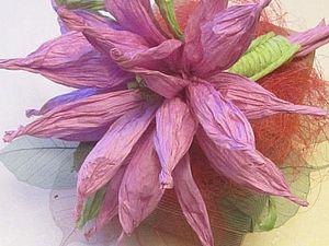 Цветок из бумажной веревки Twistart, handmade