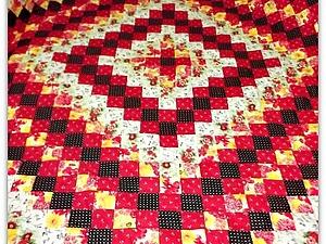 Лоскутное одеяло - мой первый пэчворк!   Ярмарка Мастеров - ручная работа, handmade