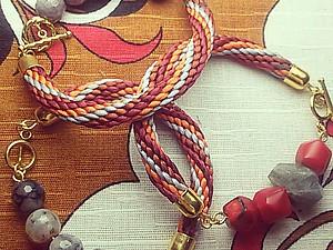 О японских традициях и технике плетения шнуров-косичек. Кумихимо. Ярмарка Мастеров - ручная работа, handmade.